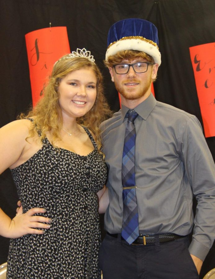 Taylor Garvin and Patrick Barszczewski pose as Homecoming King and Queen of 2019.