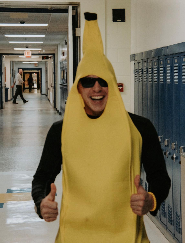 Colby Brown '20 going bananas